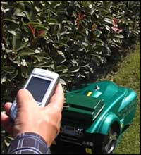 bluetooth remote lawnbott robotic lawn mower